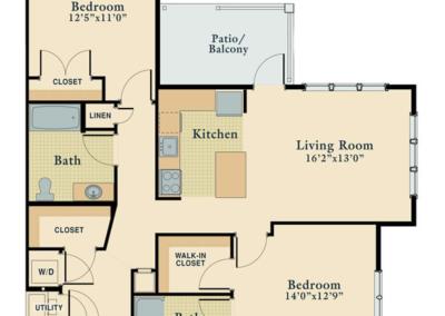 Two Bedroom Corner Unit
